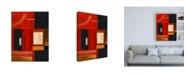 "Trademark Global Pablo Esteban Red Squares with Black Canvas Art - 15.5"" x 21"""