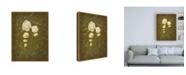 "Trademark Global Pablo Esteban Roses with Scrolls Canvas Art - 15.5"" x 21"""