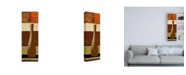 "Trademark Global Pablo Esteban Slender Neck Vase and Stripes Canvas Art - 36.5"" x 48"""