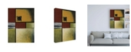"""Trademark Global Pablo Esteban Red Green and Black Squares Canvas Art - 15.5"""" x 21"""""""