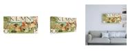 """Trademark Global Walter Crane Noahs Alphabet IV Childrens Art Canvas Art - 19.5"""" x 26"""""""