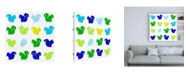 "Trademark Global Chariklia Zarris Animal Sudoku in Blue VI Childrens Art Canvas Art - 15.5"" x 21"""