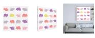 "Trademark Global Chariklia Zarris Animal Sudoku in Pink V Childrens Art Canvas Art - 15.5"" x 21"""