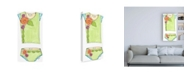 "Trademark Global Jennifer Goldberger Fun Wear I Childrens Art Canvas Art - 19.5"" x 26"""