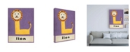 "Trademark Global Chariklia Zarris L is for Lion Childrens Art Canvas Art - 36.5"" x 48"""