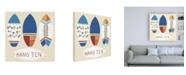 "Trademark Global June Erica Vess Surfs Up II Canvas Art - 15.5"" x 21"""