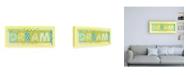 "Trademark Global Megan Meagher Dream Phrase Canvas Art - 15.5"" x 21"""