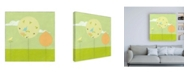 "Trademark Global June Erica Vess Lollipop Forest II Canvas Art - 19.5"" x 26"""