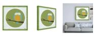 "Trademark Global June Erica Vess Owl Cameo IV Canvas Art - 19.5"" x 26"""