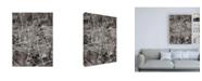 """Trademark Global Michael Tompsett Leeuwarden Netherlands City Map Black Canvas Art - 15.5"""" x 21"""""""