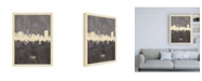 "Trademark Global Michael Tompsett Tehran Iran Skyline Gray Canvas Art - 15.5"" x 21"""