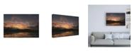 """Trademark Global Kurt Shaffer Photographs November Sunset Reflection Canvas Art - 19.5"""" x 26"""""""