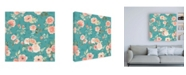 "Trademark Global Jenaya Jackson Blooming Delight Pattern IC Canvas Art - 15.5"" x 21"""