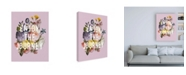 """Trademark Global Wild Apple Portfolio Floral Sentiment II Crop Canvas Art - 27"""" x 33.5"""""""