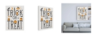 "Trademark Global Michael Mullan Festive Fright Trick or Treat I Canvas Art - 19.5"" x 26"""