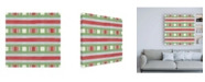 "Trademark Global Emily Adams Christmas Critters Bright Pattern VIB Canvas Art - 15.5"" x 21"""