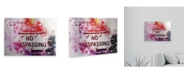 """Trademark Global Philippe Hugonnard NYC Watercolor Collection - Danger Floating Brushed Aluminum Art - 21"""" x 25"""""""