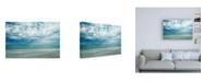 "Trademark Global Chuck Burdic Morning at the Beach Canvas Art - 15.5"" x 21"""