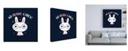 "Trademark Global Michael Buxto No Bunny Cares Canvas Art - 15.5"" x 21"""
