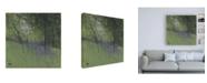 "Trademark Global Paul Baile Bluebells on Green Canvas Art - 36.5"" x 48"""