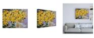 """Trademark Global Pamela Gaten The Golden Hour Bouquet Canvas Art - 15.5"""" x 21"""""""