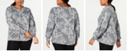 Ideology Plus Size Floral-Print Sweatshirt, Created for Macy's