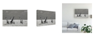 "Trademark Global Mathilde Guillemot Look Girl Strange Animals Canvas Art - 37"" x 49"""