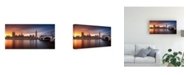 "Trademark Global Merakiphotographer London Palace of Westminster Sunset Canvas Art - 20"" x 25"""