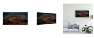 "Trademark Global Hua Zhu Milky Way Over the Sunset Arch Canvas Art - 15"" x 20"""