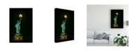 """Trademark Global Hua Zhu Statue of Liberty Icon Canvas Art - 15"""" x 20"""""""