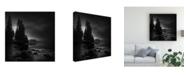 """Trademark Global Veselin Atanasov Moonlight Shadows Rhodope Canvas Art - 15"""" x 20"""""""