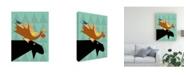"Trademark Global Marie Sansone Moose Modern Canvas Art - 15"" x 20"""