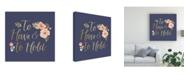 "Trademark Global Jenaya Jackson Blooming Delight VII Blue Canvas Art - 20"" x 25"""