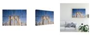 "Trademark Global Monte Nagler Brooklyn Bridge New York City New York Color 2 Canvas Art - 37"" x 49"""