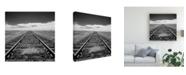 "Trademark Global Monte Nagler Tracks to Infinity Canvas Art - 15"" x 20"""