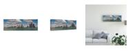 "Trademark Global Monte Nagler Detroit Skyline Panorama 2 Canvas Art - 15"" x 20"""