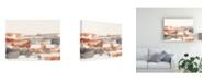"Trademark Global Jennifer Goldberger Terra Cotta Lines I Canvas Art - 37"" x 49"""