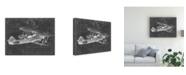 "Trademark Global Ethan Harper Flight Schematic I Canvas Art - 37"" x 49"""