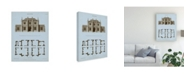 "Trademark Global Thomas Kelly Chambray House and Plan V Canvas Art - 37"" x 49"""