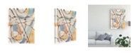 "Trademark Global Nikki Galapon Ovals and Lines II Canvas Art - 37"" x 49"""