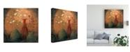 "Trademark Global Pablo Esteban Flowers in Vases Distressed Canvas Art - 36.5"" x 48"""