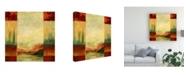 "Trademark Global Pablo Esteban Watercolor Landscape Panels 2 Canvas Art - 15.5"" x 21"""