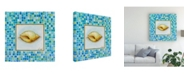 "Trademark Global Pablo Esteban Sea Life Blue Mosaic 1 Canvas Art - 15.5"" x 21"""