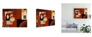 "Trademark Global Pablo Esteban Red and Beige Panels 2 Canvas Art - 19.5"" x 26"""