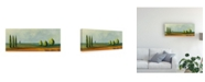 "Trademark Global Pablo Esteban Green Tuscan Paint Landscape 3 Canvas Art - 19.5"" x 26"""