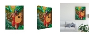 "Trademark Global Oscar Ortiz Red Dress and Guitar Canvas Art - 36.5"" x 48"""
