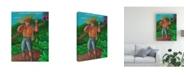 "Trademark Global Oscar Ortiz Armer Working from Home Canvas Art - 27"" x 33.5"""