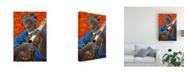 "Trademark Global Oscar Ortiz Solo De Cuatro Canvas Art - 15.5"" x 21"""