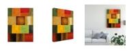 "Trademark Global Pablo Esteban Bold Gematric Panels 6 Canvas Art - 15.5"" x 21"""