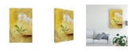 "Trademark Global Pablo Esteban White Floral Yellow 2 Canvas Art - 15.5"" x 21"""